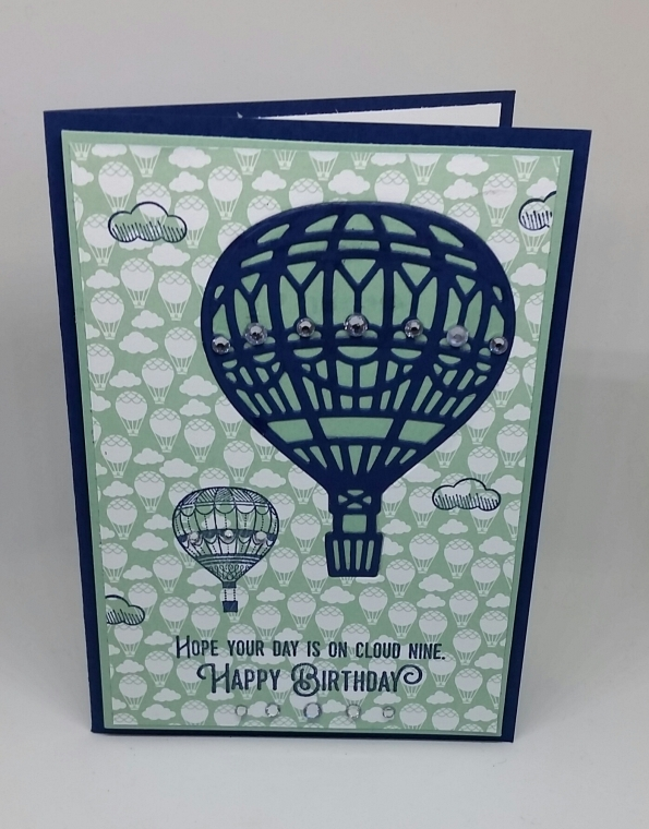 Lift Me Up Carried Away On A Hot Air Balloon Birthday Card